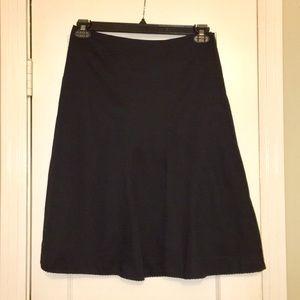 Anthropologie Black A-line Skirt